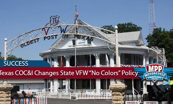 Texas Bikers Stop VFW's No MC Colors Policy