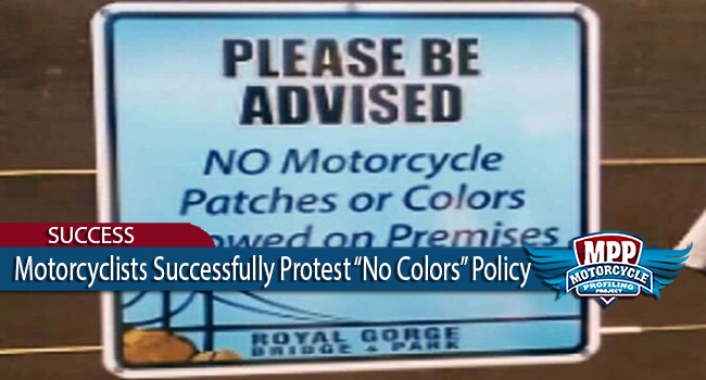 Big Win – MC's Stop 'No Motorcycle Colors' Policy in Colorado