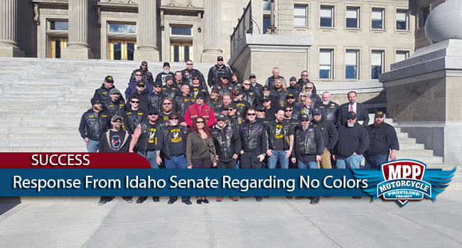 Idaho Senate Apologizes To Motorcyclists Forced To Remove Colors