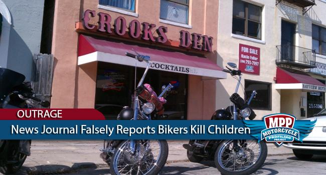 Daytona Beach News Journal Falsely Reports Bikers Kill Children