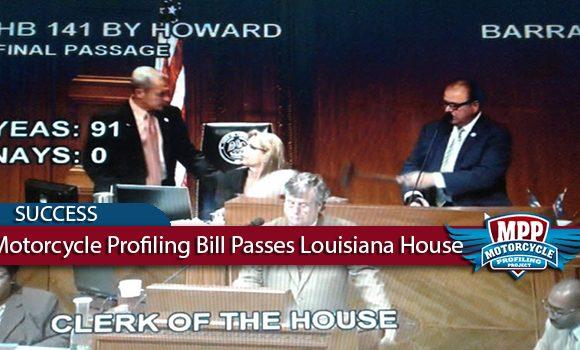 Motorcycle Profiling Bill Unanimously Passes Louisiana House
