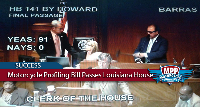 Motorcycle Profiling Bill Unanimously Passes Louisiana House