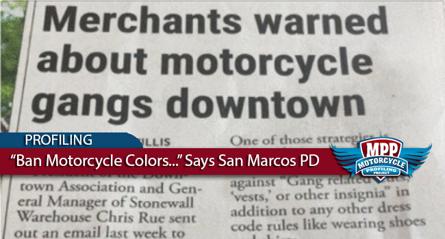 "Police in Texas Pressuring Bars to Ban ""Motorcycle Colors"""