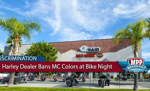 Harley-Davidson Dealer Bans Motorcycle Colors at Bike Night